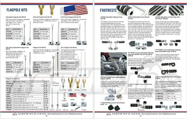 Запчасти и аксессуары для мотоциклов Honda Gold Wing